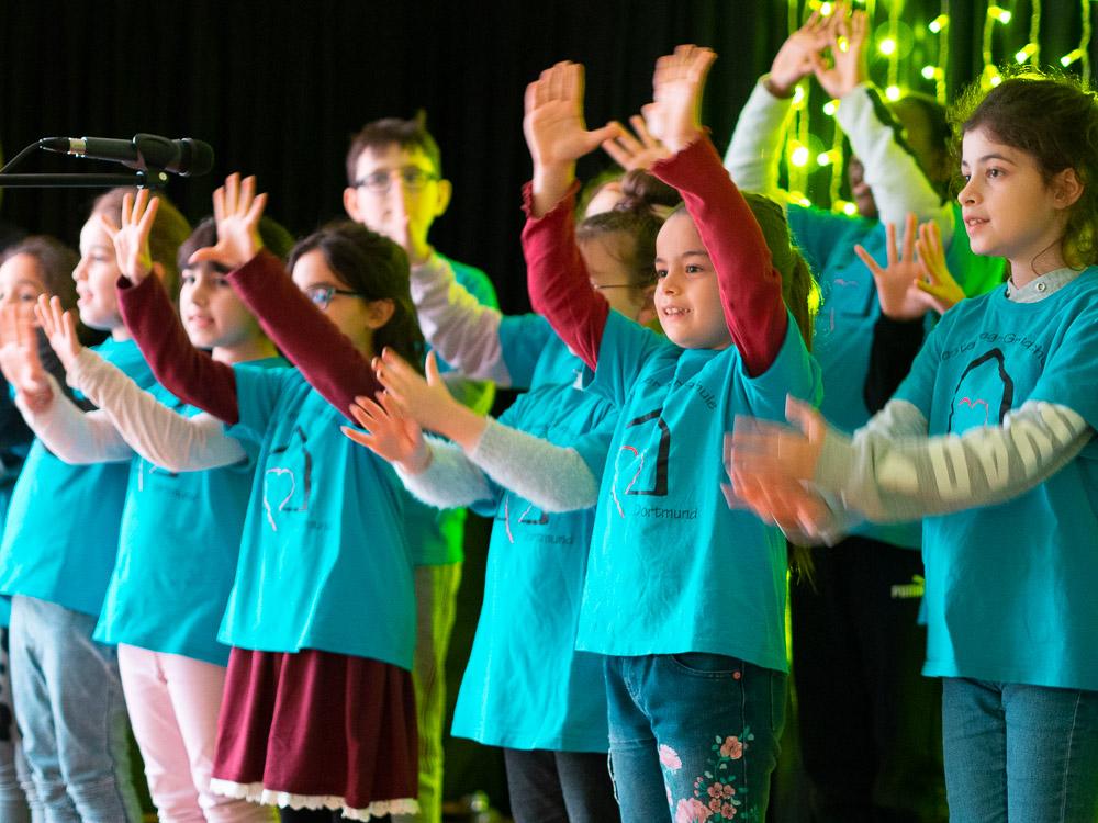 Der Kinderchor der Diesterweg-Grundschule
